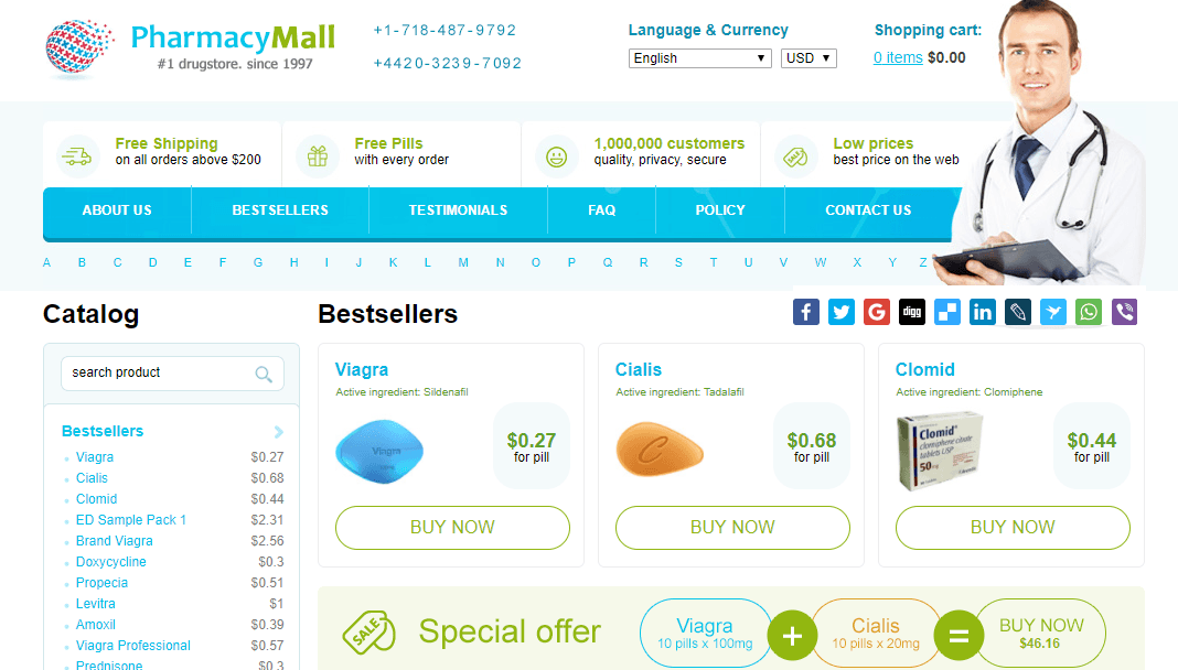 Pharmacy Mall Website
